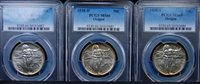 1938 PDS OREGON SET PCGS MS 66/66/65 GORGEOUS BRIGHT MATCHED AND VERY ORIGINAL