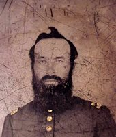 #4448 - 1/6-th Plate Tintype of Union Bearded Officer