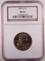 2003-D $1 Sacagawea MS65 NGC