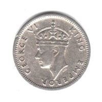 1947 Southern Rhodesia Three Pence British Colonial Coin KM#16b
