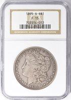 1895-S $1 F15 NGC