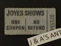 RARE Vintage JOYES SHOWS Ticket ~ The Ticket People