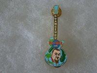 Hard Rock Cafe pin Guangzhou Uncle Dan Gibson Guitar Series Light Blue