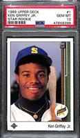 1989 Upper Deck Ken Griffey Jr. Rookie #1 Graded PSA 10 Gem Mint - HOT!