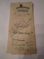 1912 - 1915 CERTIFICATE OF SHARES BOOKLET PACKET - INCREDIBLE FIND - TUB SC