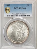 1897 S$1 PCGS Secure MS66
