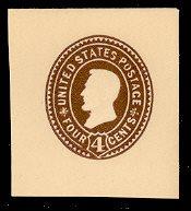 U374 4c Brown on White, die 3, Mint Full Corner 40 x 45