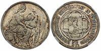 SWITZ. 1865 AR Confederation Shooting Taler of 5 Francs. NGC MS66. X S8; R-1054