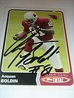 Anquan Boldin Hand-Signed Card With Certificate Of Authenticity