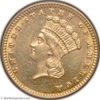 1882 Gold Dollar ANACS MS62 Gold Dollar