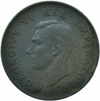 1940 One Penny - 1d - George VI - South Africa #WT24708