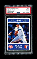 1991 NOLAN RYAN POST CEREAL #27 CANADIAN PSA 9