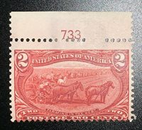 Travelstamps: 1898 US Stamps Scott # 286, Farming in the West, mint, og, Hinged