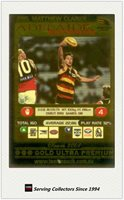 2001 AFL Teamcoach Gold Parallel Card 285 Matthew Clarke (Adelaide)