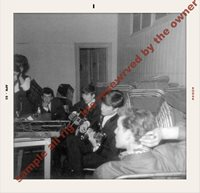 THE BAETLES Rare candid 63 John Lennon & George Harrison back stage APROX 5x6