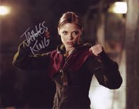 Jaime King in-person autographed photo Sexy color photo autographed by this American actress known for her roles in Hart of Dixie, Star Wars: The Clone Wars, The Pardon, My Generation, Red Tails, Gary Unmarried, My Bloody Valentine, Kitchen Confidential and Sin City. Also is credited at times as James King