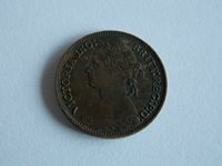 Great Britain UK 1879 farthing coin(D42)