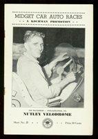 Nutley Velodrome Auto Race Program