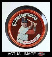 1964 Topps Coins # 156 All-Star Tim McCarver St. Louis Cardinals (Baseball Card) Dean's Cards 5 - EX