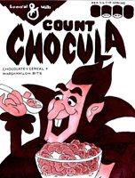 COUNT CHOCULA ORIGINAL COMIC ART ON CARD STOCK