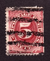 US J25 5c Postage Due Used F SCV $16