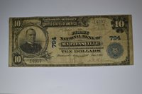 Martinsville, IN - $10 1902 Plain Back Fr. 624 The First NB Ch. # (M)794