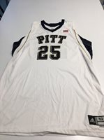 Game Worn Used Pittsburgh Panthers Pitt Basketball Jersey Size 52 #25 Miller
