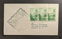 1934 USS Hulbert Decommissioned Navy Cover Buffalo NY Hail and Farewell Cancel