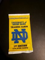 1 Pack Collegiate Collection University of Notre Dame Trading Card Pack-Sealed