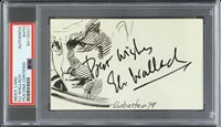 "1966 Eli Wallach ""Mr. Freeze"" Batman Signed 3x5 Index Card (PSA/DNA Slabbed)"