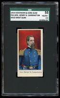 "1910 E50 Dockman Wild West Gum ""General H.B. Carrington"" SGC 55 VG/EX+ #2936-017"