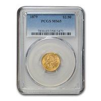 1879 $2.50 Liberty Gold Quarter Eagle MS-65 PCGS - SKU#170794