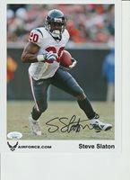 STEVE SLATON FOOTBALL Autographed Photograph stock photo JSA COA