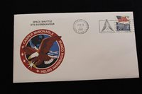 SPACE COVER 1993 SLOGAN CANCEL STS-53 SHUTTLE ENDEAVOUR TDRS-F WITH INSERT (174)