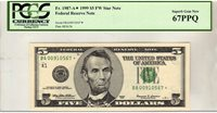 Fr.1987-A* $5 1999 Boston STAR PCGS Superb GEM 67 PPQ