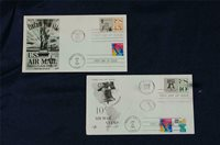 Statue of Liberty 15c Airmail & 29c Stamps Dual FDC Fleetwood Sc#C59 & C63,2599