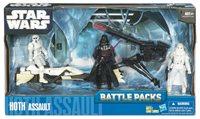 Star Wars Clone Wars Battle Packs 3.75 Inch Action Figure Blue Card Line (2010 Wave 1) - Hoth Assault