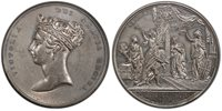 GREAT BRITAIN. Victoria. (Queen, 1837-1901). 1837 White Metal Medal. PCGS SP64. By J. Barber for Messrs. Griffin and Hyams. 61.5mm. 96.81gm. VICTORIA DEI GRATIA REGINA. Diademed bust of Queen Victoria left / WELCOME, in exergue legend and name of Lo
