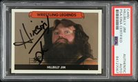 2017 Hillbilly Jim Wrestling Legend Signed Card (PSA)