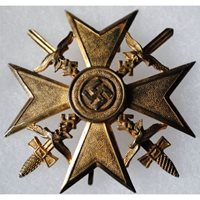 Spanish Cross with Swords Attributed to Luftwaffe Ace