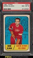 1967 Topps Hockey Norm Ullman #101 PSA 8 NM-MT (PWCC)