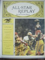 JOE THEISMANN signed REDSKINS 1977 football magazine NOTRE DAME AUTO Autographed
