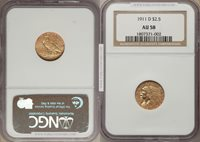 1911-D $2.5 Indian Strong D AU58 NGC