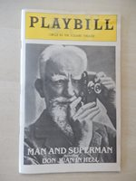 February 1979 - Circle In The Square Playbill w/Ticket - Man And Superman