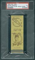 1958 Yoo-Hoo Matchpk Book Mickey Mantle PSA 3 (8656)