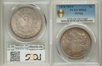 1878 7/8TF Morgan Dollar Strong MS64 PCGS