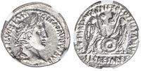 ROMAN IMPERIAL Augustus 27 BC - 14 AD AR Denarius NGC Ch MS 5/5 4/5 Superb