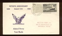 USS Bexar APA-237 1948 Naval Cover Dewey Cachet Active in Korea & Viet Nam N757