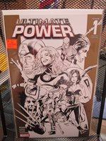 Ultimate Power #1 Greg Land Gold Sketch Variant Marvel Comics Bendis Cap FF 9.0