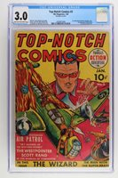 Top-Notch Comics #2 - MLJ 1940 CGC 3.0 1st Comic with Nazi Swastika Cover!